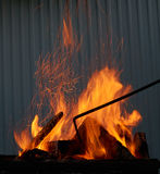 Fire in the BBQ Stock Photos