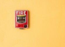 Fire beak glass. Fire break glass Fire alarm in the alarm Royalty Free Stock Photography