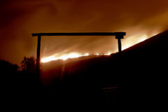 Fire Behind the Gate Stock Images