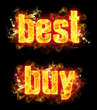 Fire Text Best Buy Royalty Free Stock Images