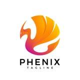 Fire Bird Phoenix Logo. The logo of a fire bird in bright fire colors. phoenix Stock Photography
