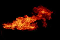 Fire on black Royalty Free Stock Photo