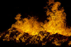 Fire on Black Royalty Free Stock Photography