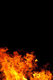 Fire On Black. A fire against a black backgound Royalty Free Stock Image
