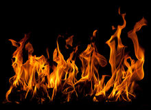 Fire on a black background Royalty Free Stock Photo