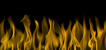 Fire on black background. Background image of flames over black Royalty Free Stock Image