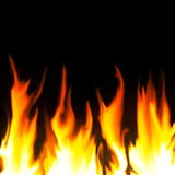 Fire on black background Royalty Free Stock Images