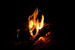 Fire on black background. Royalty Free Stock Photography