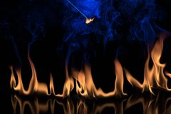 Fire on a black background Royalty Free Stock Photos
