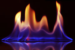 Fire with black background Stock Photography