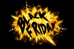 Fire Black Friday Royalty Free Stock Images