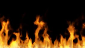 Fire on black - high temperature burning sequence stock footage