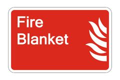 symbol Fire Blanket Safety Symbol Sign on white background,vector illustration royalty free illustration
