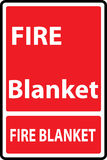 Fire blanket sign. Signs of fire blanket  sign. Vector Illustration Royalty Free Stock Photo