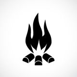 Fire blaze vector icon. Illustration Stock Photos