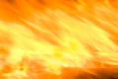 Fire is blowing with wind Stock Images