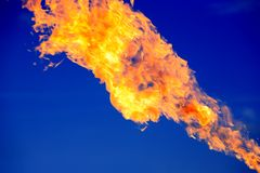 Fire On Blue Stock Photography