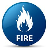 Fire blue round button Royalty Free Stock Photo