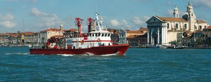 Fire boat Stock Image