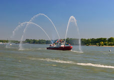 Fire boat Royalty Free Stock Photo