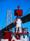 Fire Boat in Harbour. Fire Boat docked in San Francisco Bay Stock Images