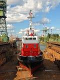 Fire-boat im Dock Lizenzfreies Stockbild