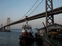 Fire boat moored at fire station San Francisco Bay Stock Photography