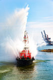 Fire boat show Royalty Free Stock Image