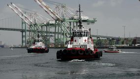Fire boats stock footage