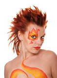 Fire bodyart Royalty Free Stock Image