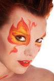 Fire bodyart Stock Photo