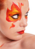 Fire bodyart Stock Image