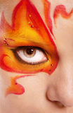 Fire bodyart Royalty Free Stock Images