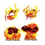 Fire Bomb Effect Element Set. Vector Stock Photography