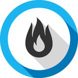 Fire bonfire flame bagel shape. Fire flame, bagel color shape, for you design Stock Photography