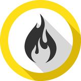 Fire bonfire flame bagel shape. Fire flame, bagel color shape, for you design Stock Image