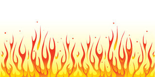 Fire border Stock Image