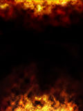Fire border Royalty Free Stock Photos