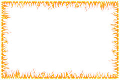 Fire Border Royalty Free Stock Images