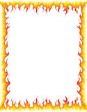 Fire Border. Illustration of fire border, fire frame. Editable vector illustration Stock Image