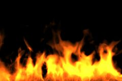 Fire Bottom. Render. Fire at bottom on with black background. Render Stock Photos