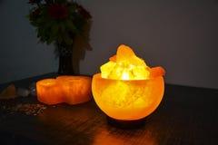 Free Fire Bowl Salt Lamp | Himalayan Royalty Free Stock Images - 213970939