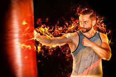 Fire boxer Royalty Free Stock Photo