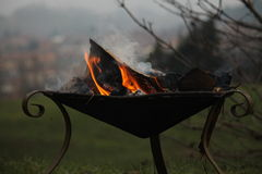Fire in the brazier Royalty Free Stock Images