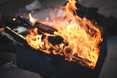 Fire. Brazier Stock Image