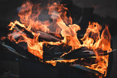 Fire. Brazier Stock Photo