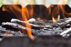 The fire in the brazier Royalty Free Stock Photography