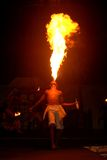 Fire Breather. A Fire Breather show in Punta Cana Stock Image