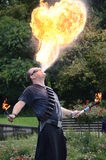 Fire breather Stock Photo