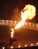 Fire Breathing Circus Flame Show  Royalty Free Stock Image